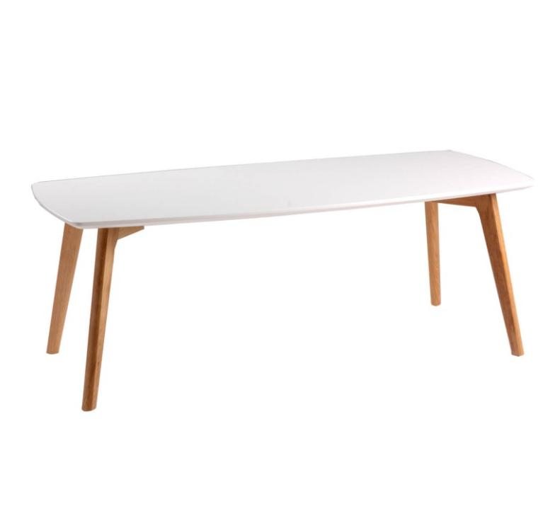 Mesa de centro Marco madera blanco 110x50 cm