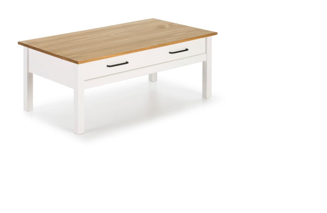 Mesa centro Miranda madera blanco 100 cm