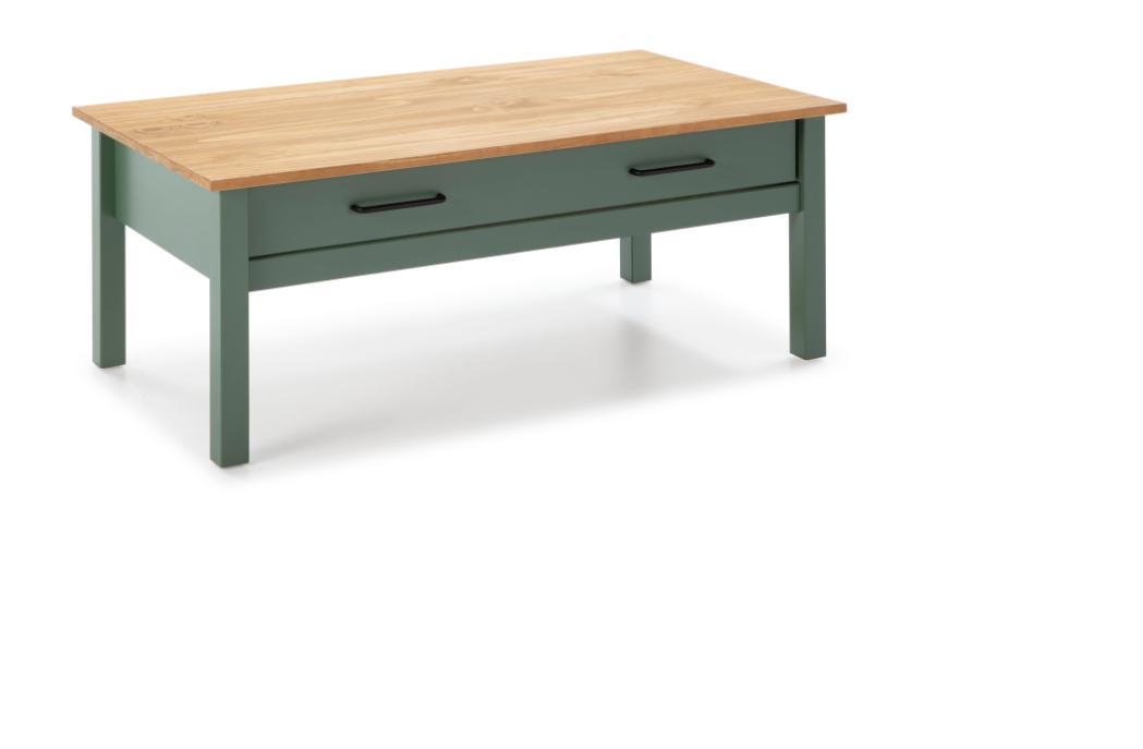Mesa centro Miranda madera  verde 100 cm