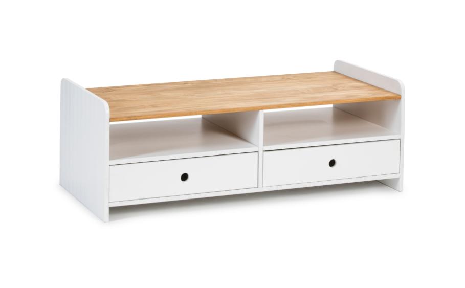 Mesa de centro Monte madera de pino blanco 110 cm