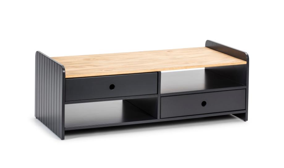 Mesa de centro Monte madera de pino  gris antracita 110 cm