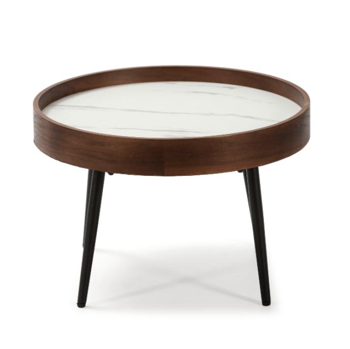 Mesa de centro Rosella nogal, blanco 50 cm