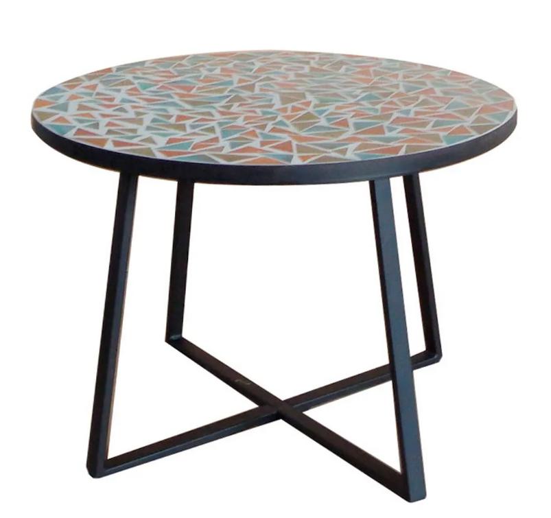 Mesa auxiliar Vania de ceramica 60x46 cm