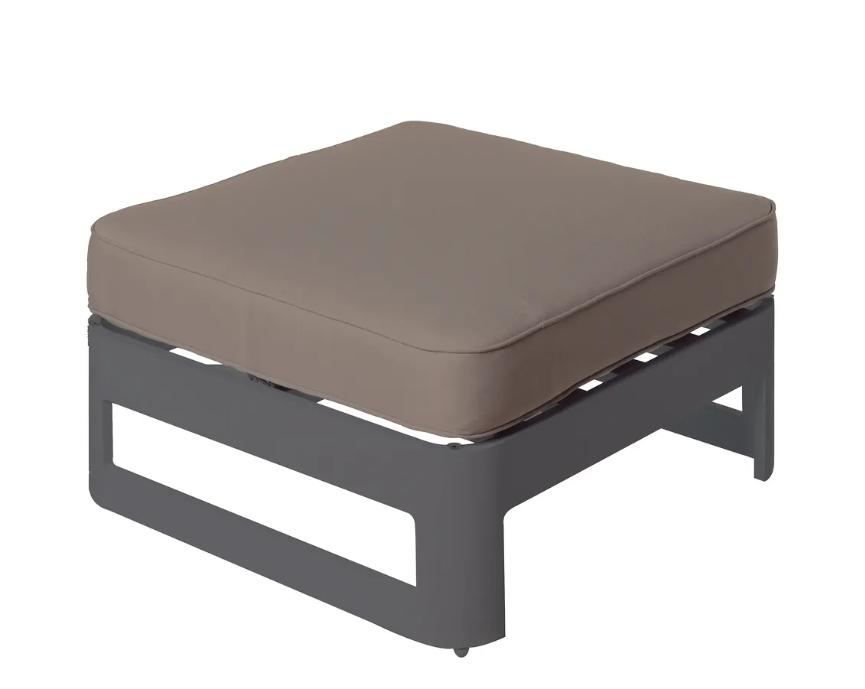 Mesa con cojin Aisha aluminio grafito