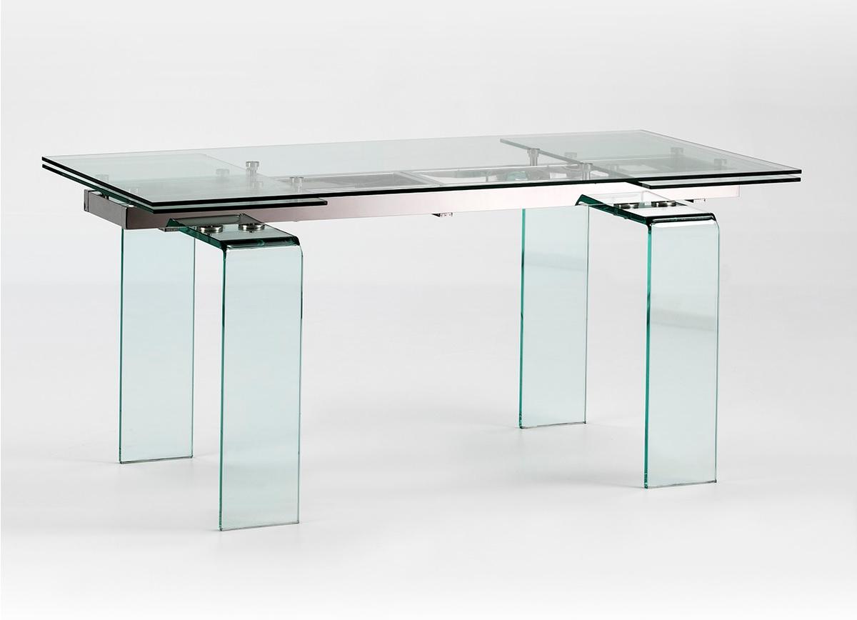 Mesa de comedor azimut cristal extensible 160-240x80