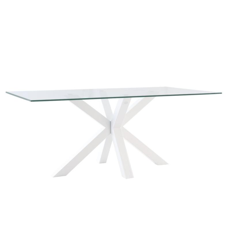 Mesa de comedor Demi cristal blanco 140 cm