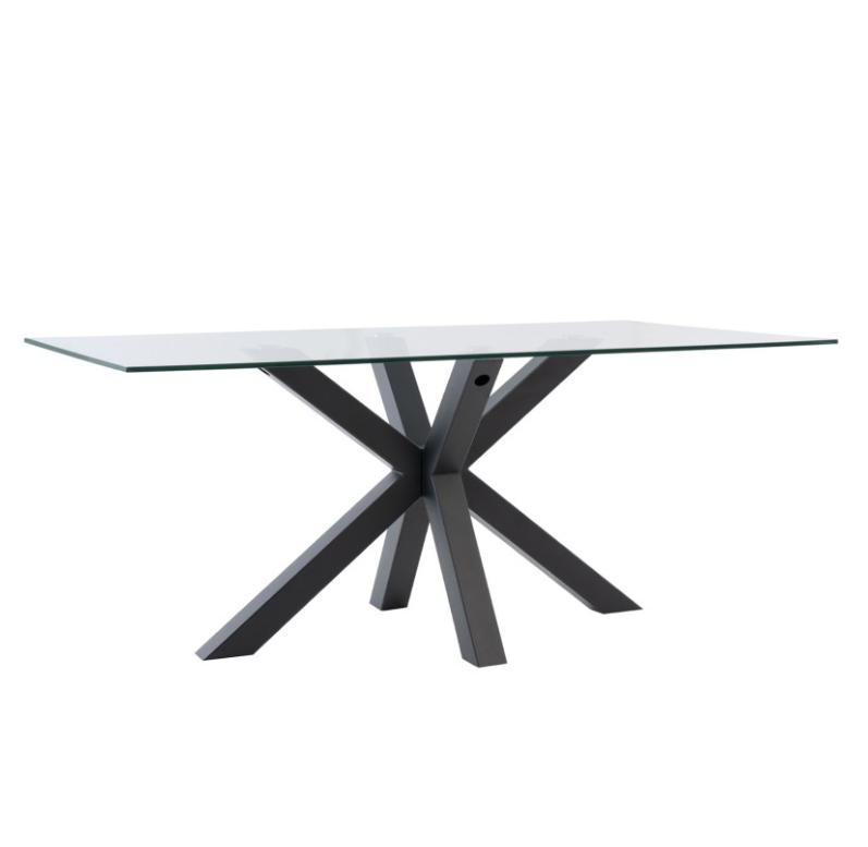 Mesa de comedor Demi cristal negro 180 cm