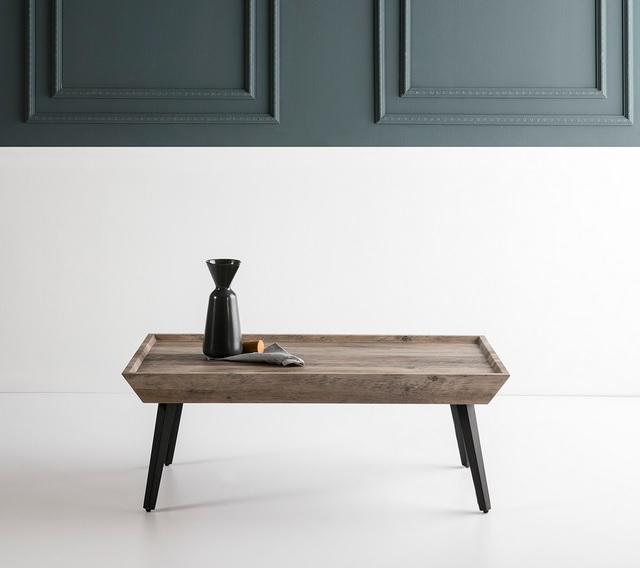 Mesa de centro Gisela roble gris antiguo 110x60