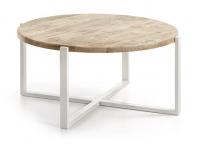 Mesa de centro nordica madera natural 90cm