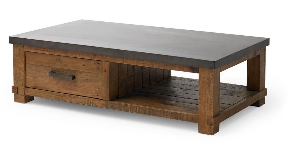 Mesa de centro tenneesse madera cemento CT-34