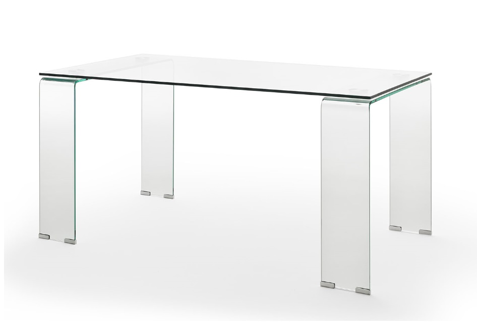 Mesa de comedor cristal transparente 160X90