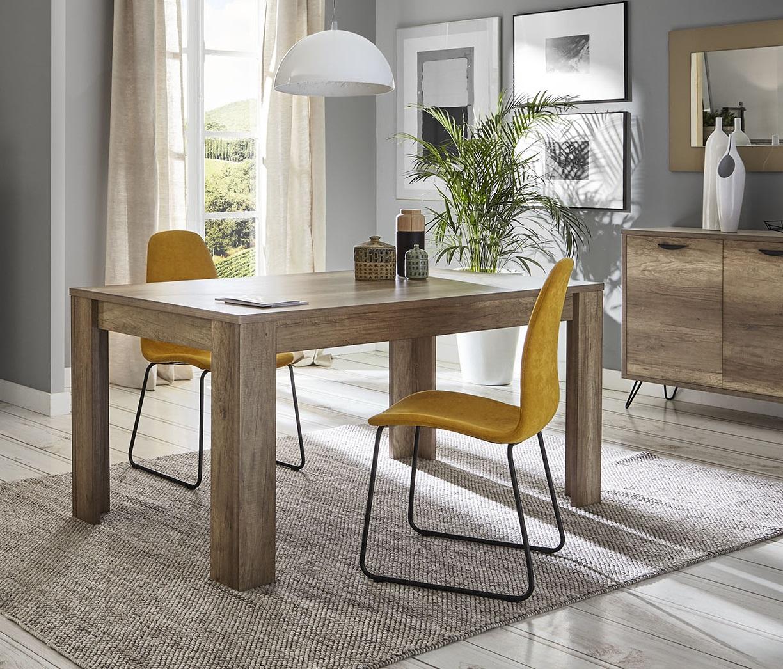 Mesa de comedor kansas DT-19 madera 160x90