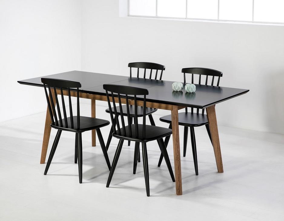 Mesa extensible Tivoli nordica negro roble 150-90x90