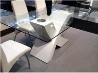 Mesa de comedor X blanco 180x100