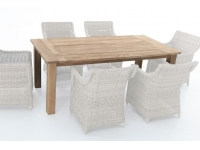 Mesa madera de Teka Java 200x100