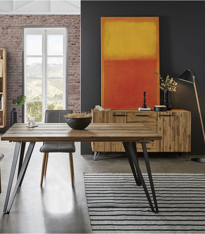 Mesa Irati madera de acacia DT-24 200x100