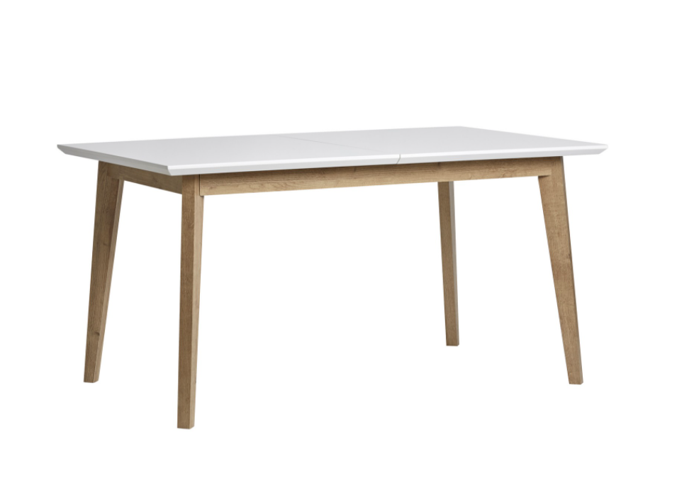 Mesa extensible Java madera roble blanco 150/190x90