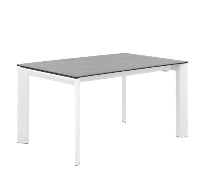 Mesa extensible Lisa tapa porcelánico gris 140/200x90 cm