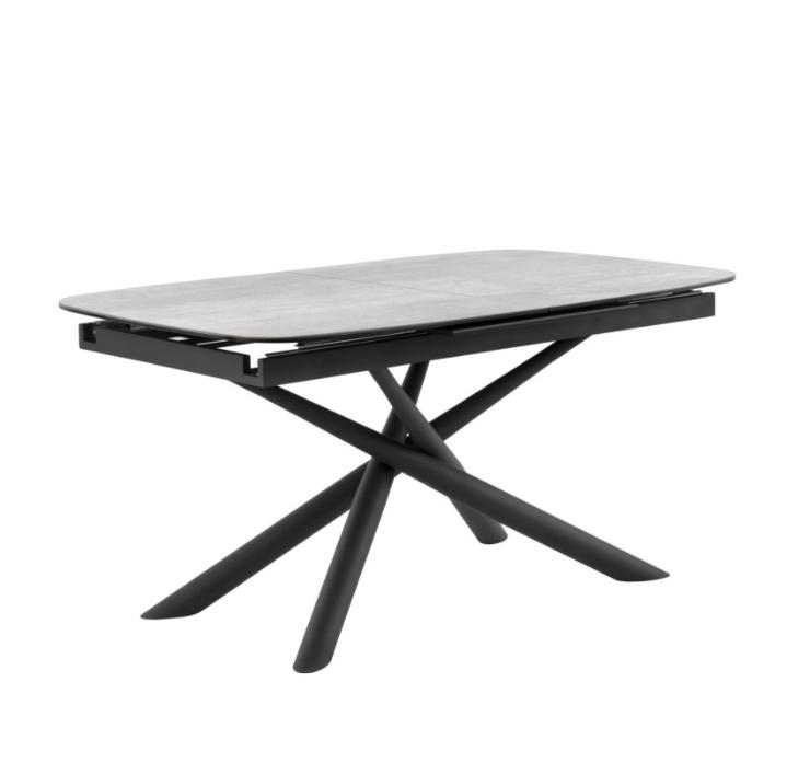 Mesa extensible Ness mármol gris 160/220 cm