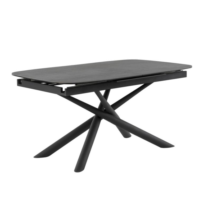 Mesa extensible Ness mármol negro 160/220 cm