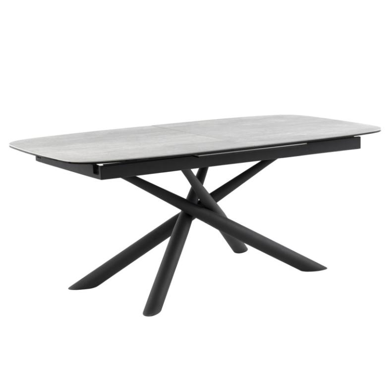 Mesa extensible Ness mármol gris 180 cm