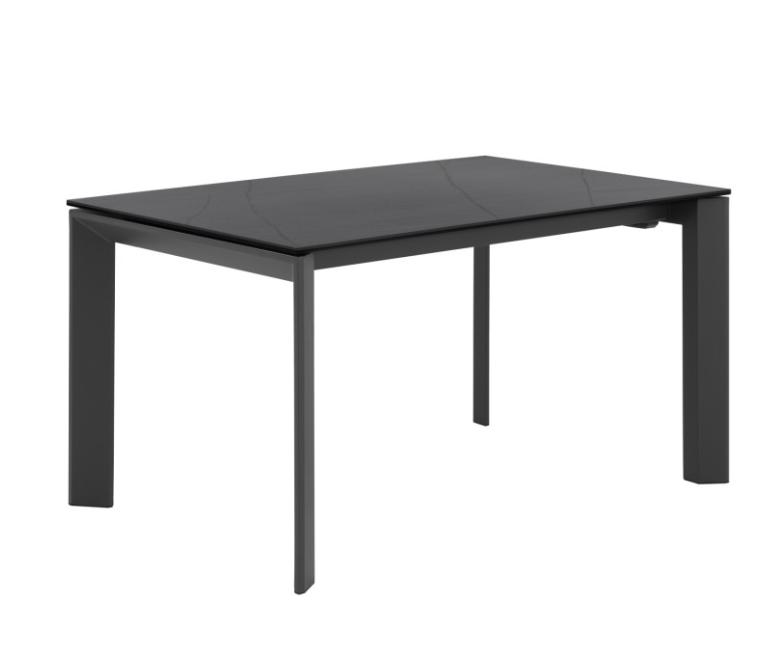 Mesa extensible Tamara porcelánico negro 160/240x90 cm