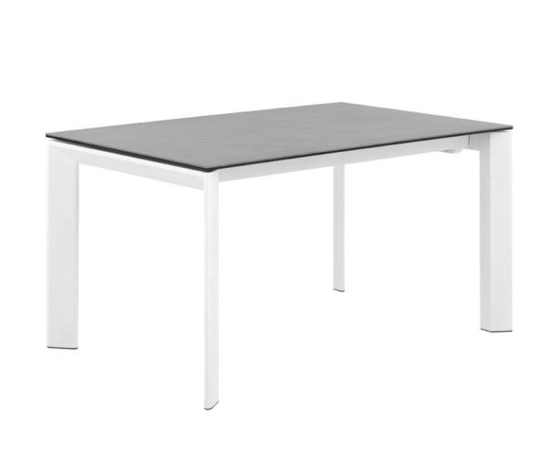 Mesa extensible Tamara tapa porcelánico gris 160/240x90 cm