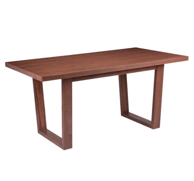 Mesa de comedor April madera nogal 160x90 cm