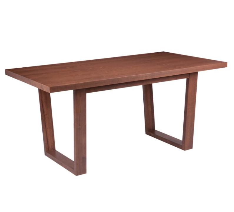 Mesa de comedor Amber madera nogal 180x90 cm