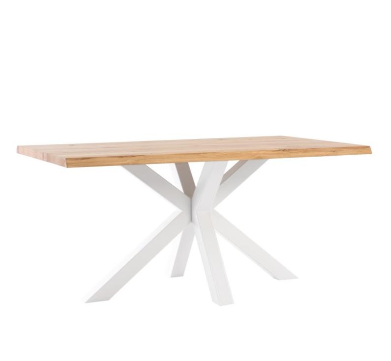 Mesa de comedor Grace madera de roble blanco 160 cm