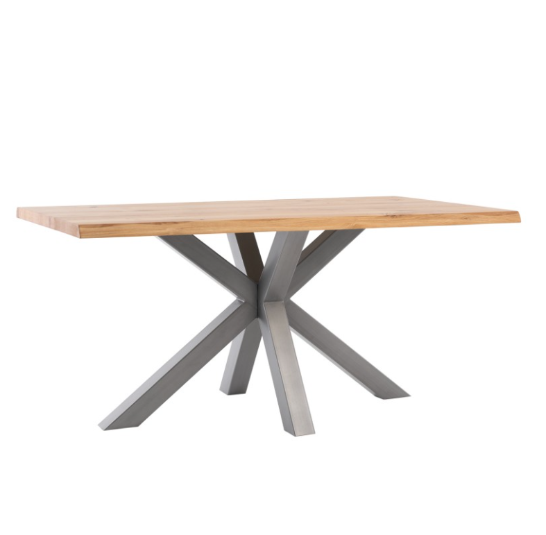 Mesa de comedor Grace madera de roble gris 220 cm