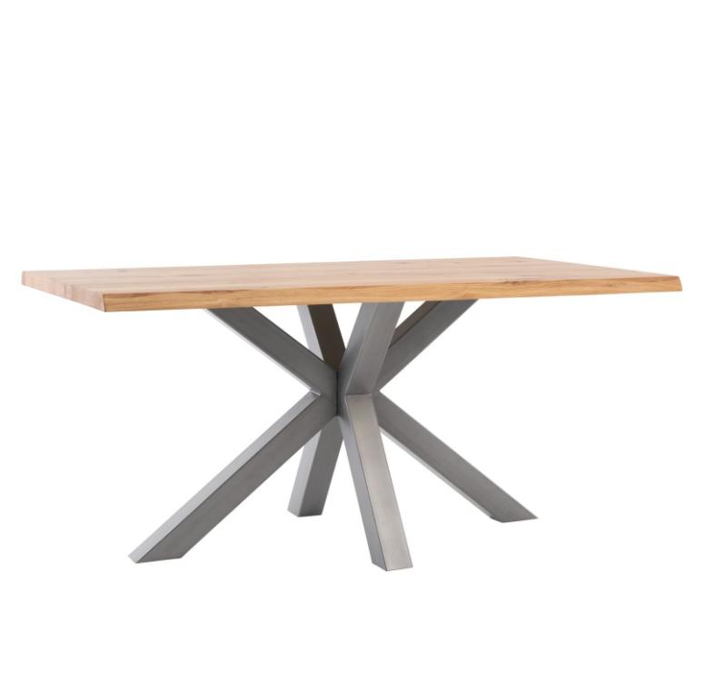 Mesa de comedor Grace madera de roble gris 160 cm