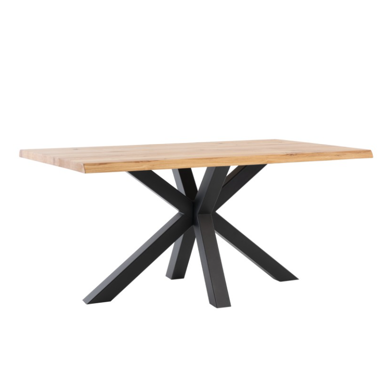 Mesa de comedor Grace madera de roble negro 160 cm