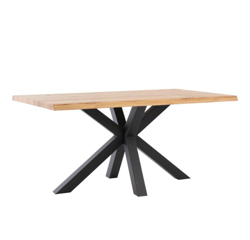 Mesa de comedor Grace madera de roble negro 140 cm