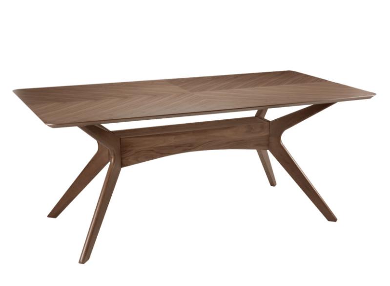 Mesa Helga de madera nogal 180 cm