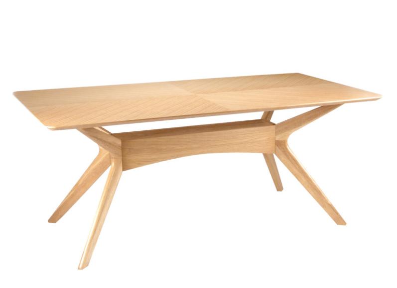 Mesa Helga de madera roble 180 cm
