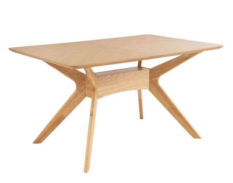 Mesa Helga de madera roble 140 cm