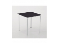 Mesa inox tablero compacto negro apilable