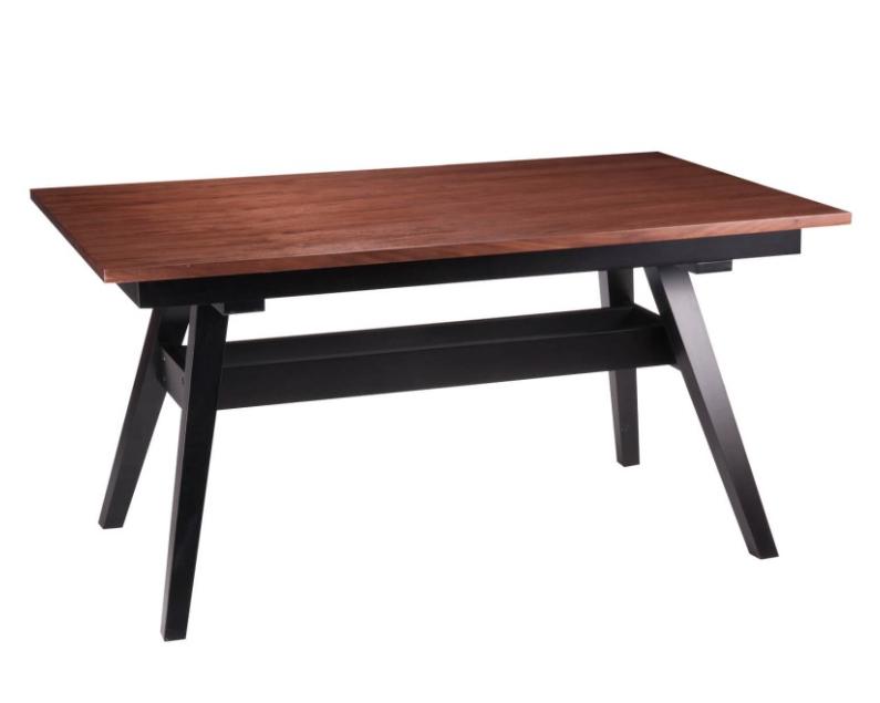 Mesa de comedor Abbie madera de nogal 150x90 cm