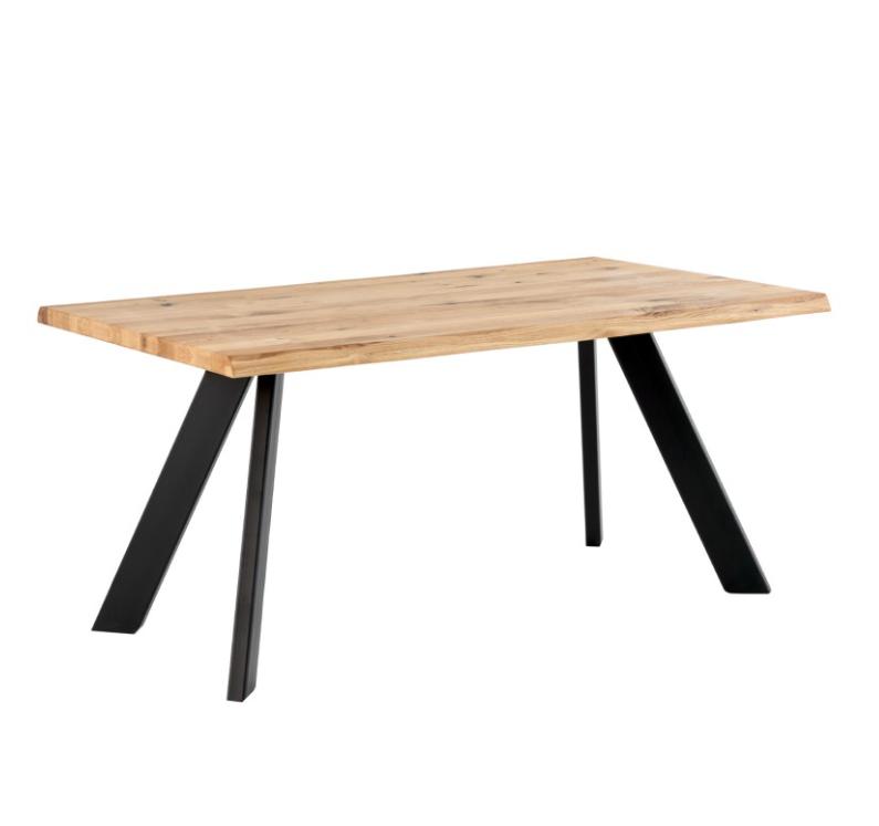 Mesa de comedor Lucia madera roble negro 140 cm