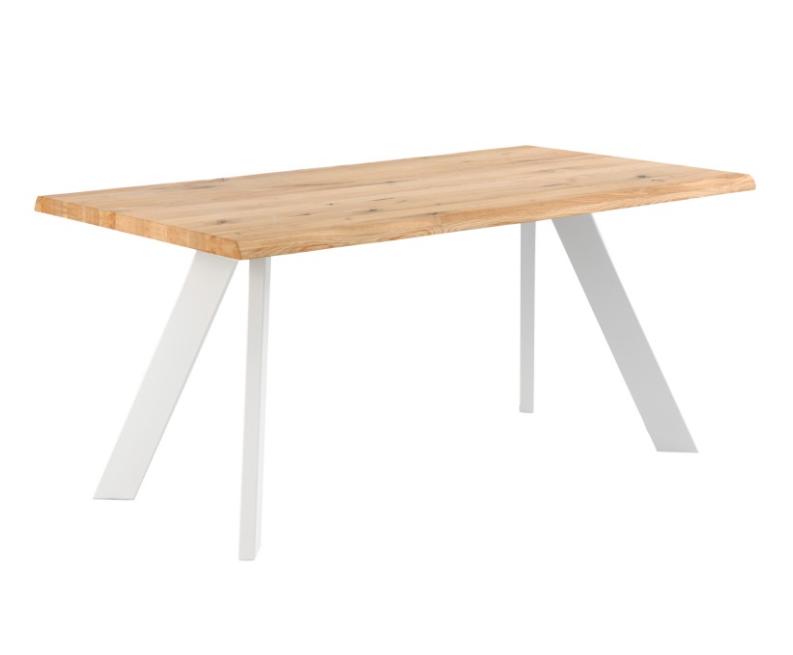 Mesa de comedor Lucia madera roble blanco 180 cm