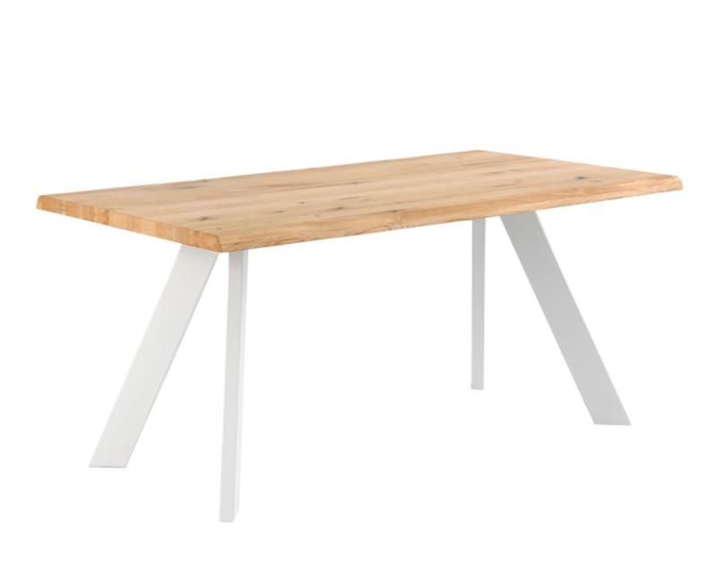 Mesa de comedor Lucia madera roble blanco 200cm