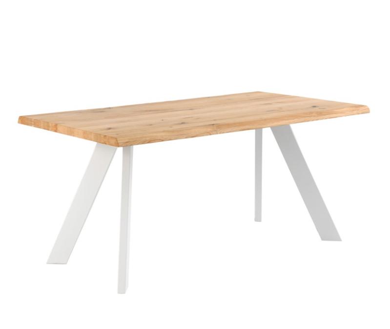 Mesa de comedor Lucia madera roble blanco 220cm