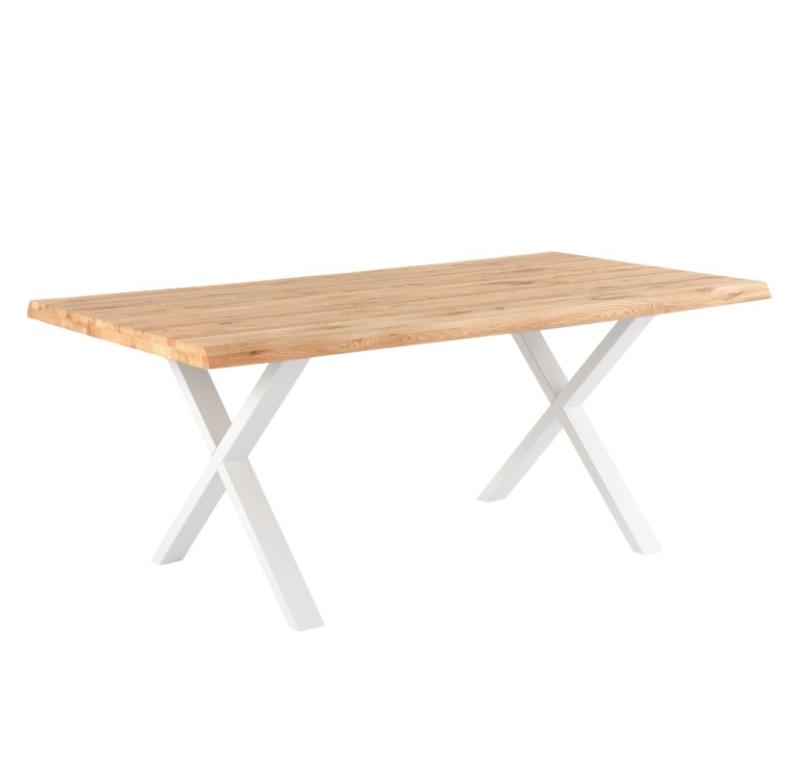 Mesa de comedor Corine madera de roble blanco 140 cm