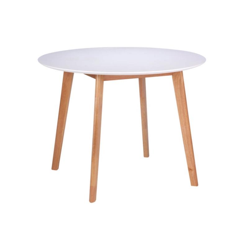 Mesa Monna madera blanco roble 100 cm
