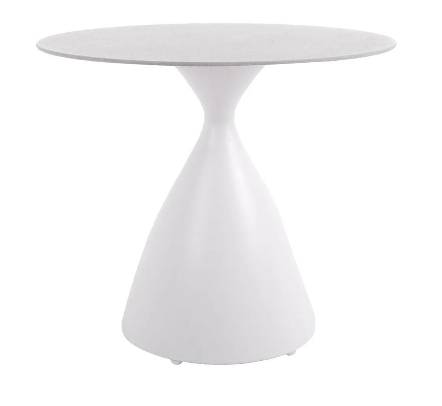 Mesa de comedor Nadia aluminio blanco