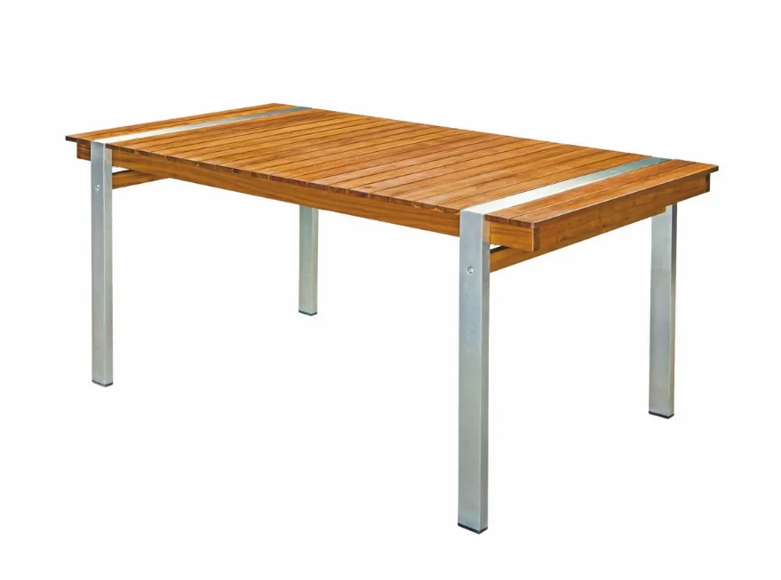 Mesa de comedor Norah madera acacia maciza 220x100x74 cm