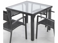 Mesa terraza aluminio Nuit 90x90