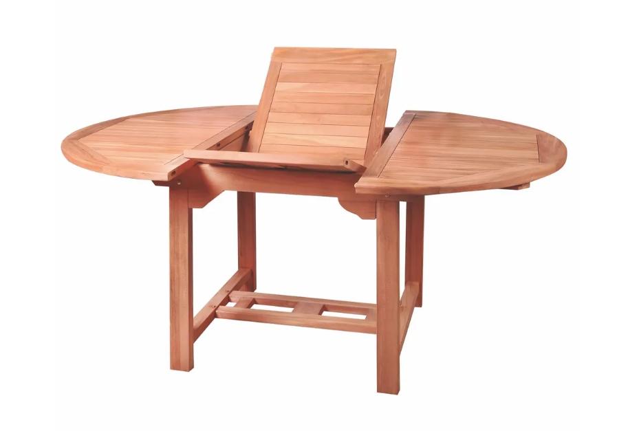 Mesa extensible Alisa madera de teka 120x100 cm