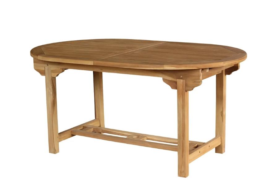 Mesa extensible Alisa madera de teka 180x100 cm